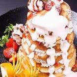 山鳥特製パンケーキタワー!クーポン利用で2400円→1200円に!