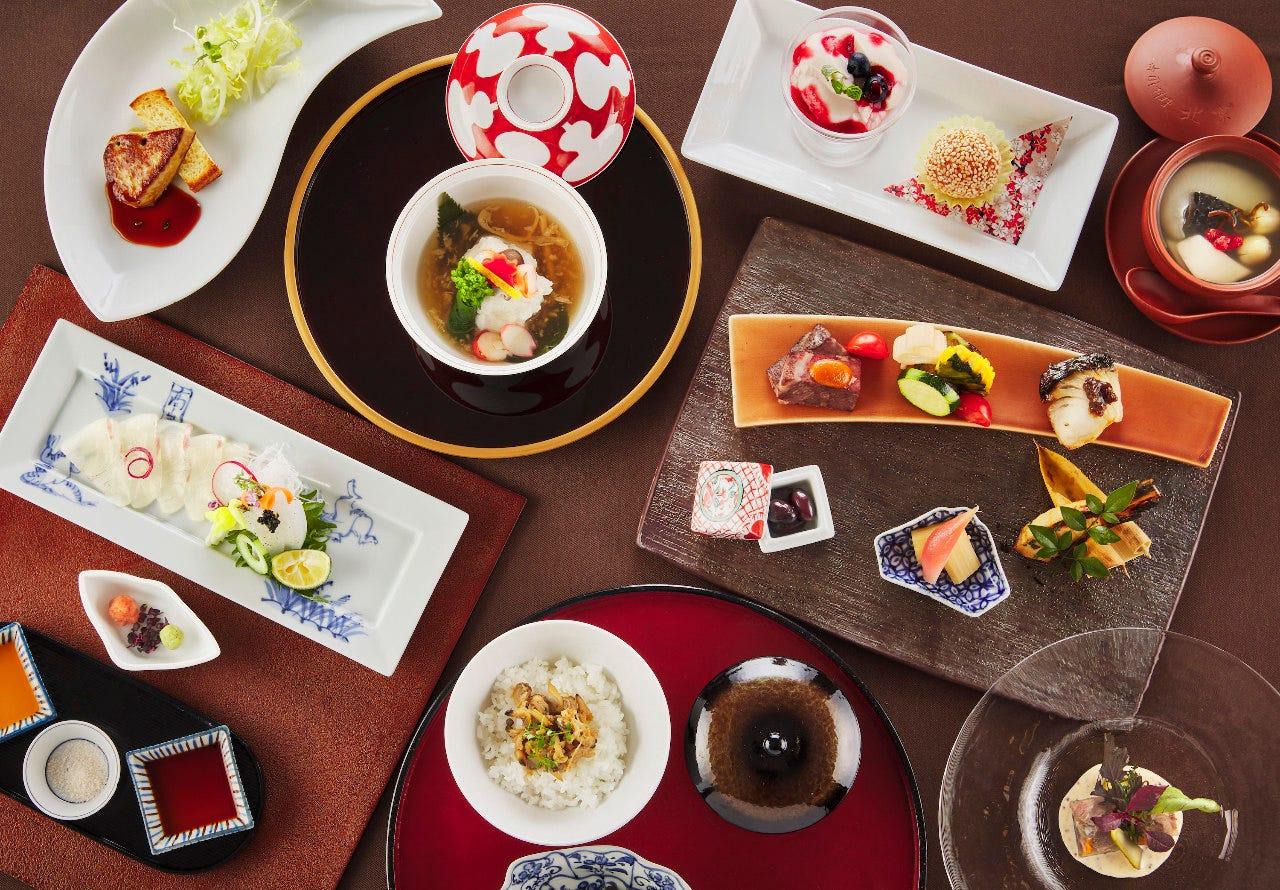 同じテーブルで和洋中異なるお料理を