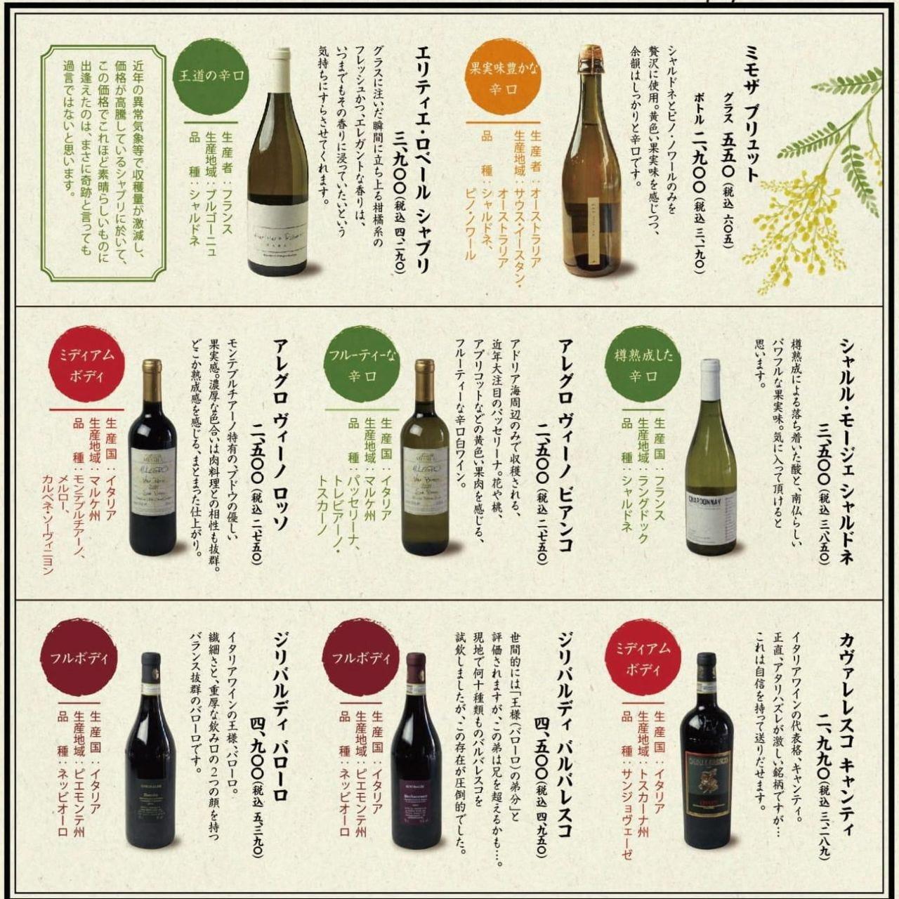現地買い付け超コスパワイン!どれも日本未発売のワインです