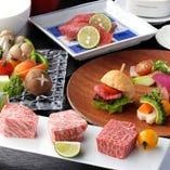 上質な空間にて嗜む、大切な記念日に相応しい当店一押しのコース料理は飛騨牛をはじめ様々な和牛達が繰り広げる美食の祭典。