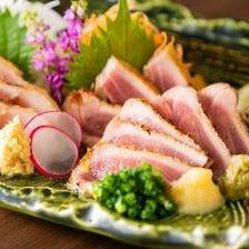 鹿児島県産種鶏の炭火タタキ
