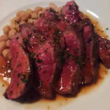 国産牛のランプステーキ!赤ワインにドンピシャです。