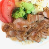 せせらぎ豚のジンジャーポーク定食(スープ・サラダ付)