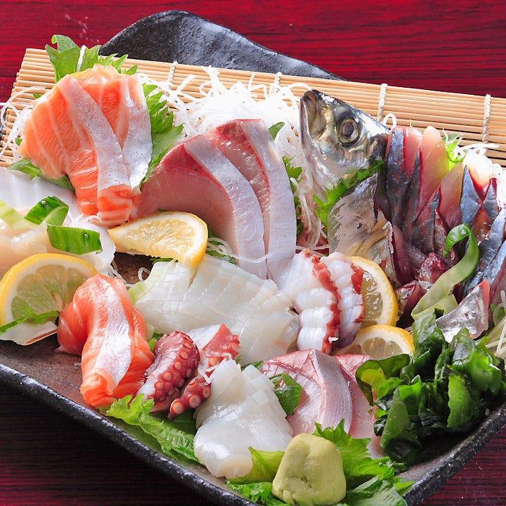 毎日市場より新鮮な魚介を入荷! 内容は仕入れにより変わります