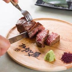 黒毛和牛モモステーキ赤身メインの焼肉「赤身」コースでも楽しめます