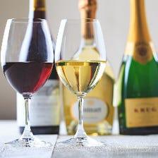 常時100本以上のフランス産ワイン