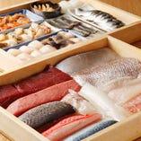 [厳選素材×技] 江戸前寿司ならでのは丁寧な手仕事が光ります