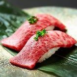 黒毛和牛の肉寿司【山形県】