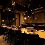 中人数のご宴会に最適なテーブル席(3名様~6名様)