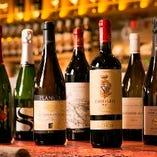 180種類以上のワインはお客様のあらゆるニーズに対応