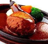 【テイクアウト】ビーフハンバーグステーキ デミグラスソース