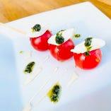 プチトマトとクリームチーズのカプレーゼ