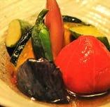 【自慢の煮物】野菜中心の「煮物」は毎日お店で手間隙かけて作ります。ほっとする味に出会えます