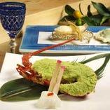 伊勢海老や鮑など豪華食材を使用した逸品もご用意しております