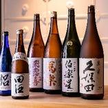 全国から選りすぐりの日本酒をご用意