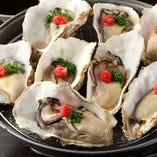 旬の時期には生牡蠣もご提供