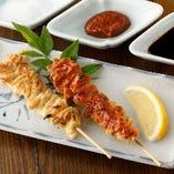 「串焼き」味付けは塩・飛騨味噌・秘伝タレからお選びください