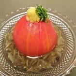 トマトとじゅん菜の酢の物