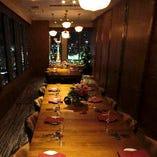 夜景個室でプライベートパーティー、 接待や会食など、ビジネスシーンにも