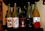 果実酒も豊富です。梅酒、桃酒、りんご酒等