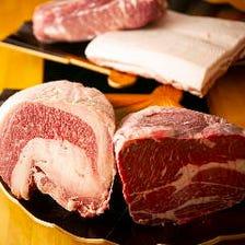 【2時間食べ飲み放題】イチオシ『厳選国産牛サーロイン・牛タン・黒豚・厳選牛肉コース』