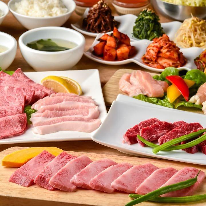 「和牛上カルビコース」3,500円(税抜)で上質な旨味を堪能