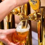 【泡たっぷり】 生ビールの美味しさを追求し注ぎ方にもこだわる