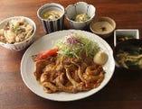 寅福の和風生姜焼き定食
