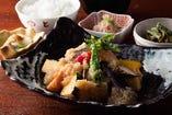 旬の魚と季節野菜の煮おろしがけ定食