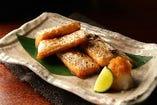 【人気】脂がたっぷりのったサーモンハラス炙り焼き