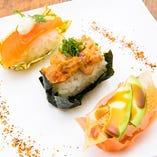 彩り海鮮寿司3種盛り