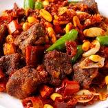 牛フィレ肉とトック(韓国風)の炒め