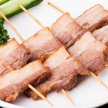 西安風豚バラ肉の串揚げ