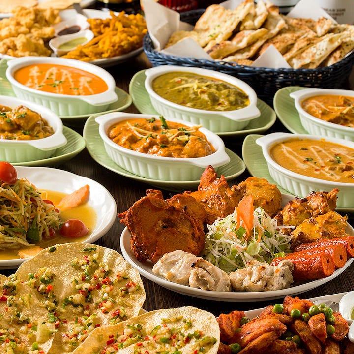 ◆インド料理3H食べ飲み放題3500円!