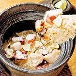 炊きたて土鍋ご飯【真ダコと三つ葉】