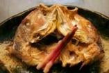 鯛の兜焼き