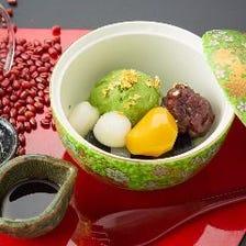北海道産エリモ小豆の特製あんみつ