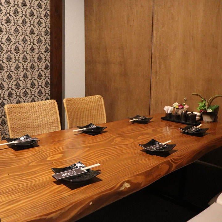 プライベート空間の個室でお食事