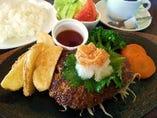 神戸牛ハンバーグランチ(和風)