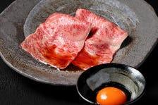 6000円コース(+800円で、但馬太田牛のローストユッケ&炙り牛刺し&牛にぎりの3種が付けれます)