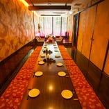 ◆充実の宴会個室 少人数から30名様迄利用可能な半個室あり