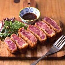 肉料理が◎沖縄初!?のレアかつも!