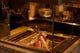 旬の食材を、炉端で炙る。