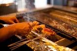 希少な川俣軍鶏の焼物も入ったお食事プランです。