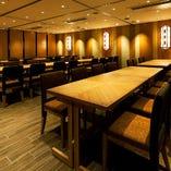 テーブル個室は、3名様から最大60名様まで、シーンに合わせてお部屋をご用意します