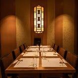 テーブル個室は大切なゲストを迎える接待やご家族そろってのお食事会に