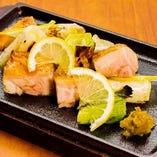 播州百日鶏の柚子胡椒焼き