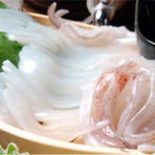 【壱岐島の不動の人気No.1メニュー】 しろ烏賊の姿造り ※ゲソとエンペラは天ぷら又は塩焼きに