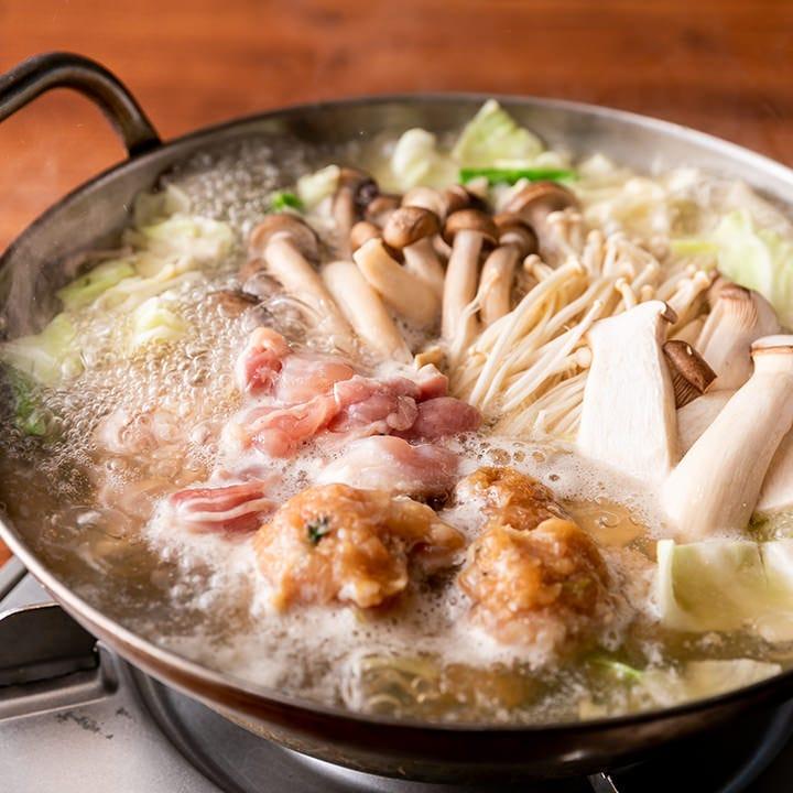 これからの季節に◎信州きのこ×松亀味噌の『鶏きのこ鍋』