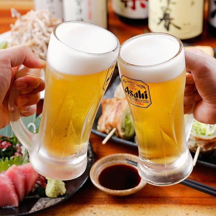 サワーは全て金宮焼酎使用♪皮ごと入れる生レモンサワー大人気!